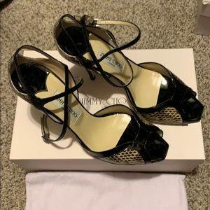 Jimmy Choo Snake/Patent heels